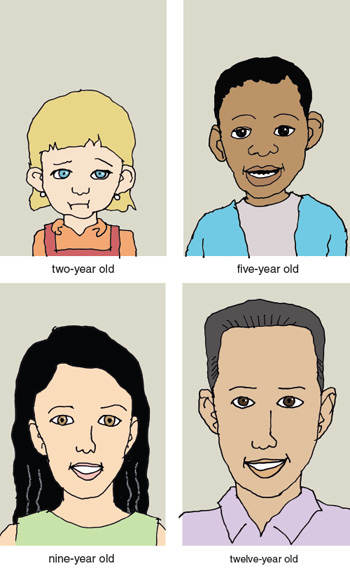 Children learn early that some types of lying are permissible and even encouraged: They are told, for example, that they should pretend to be happy with a gift they secretly dislike, to avoid hurting the giver's feelings. With age, they gain skill at hiding their disappointment. <strong>Illustration by Tom Dunne.</strong>