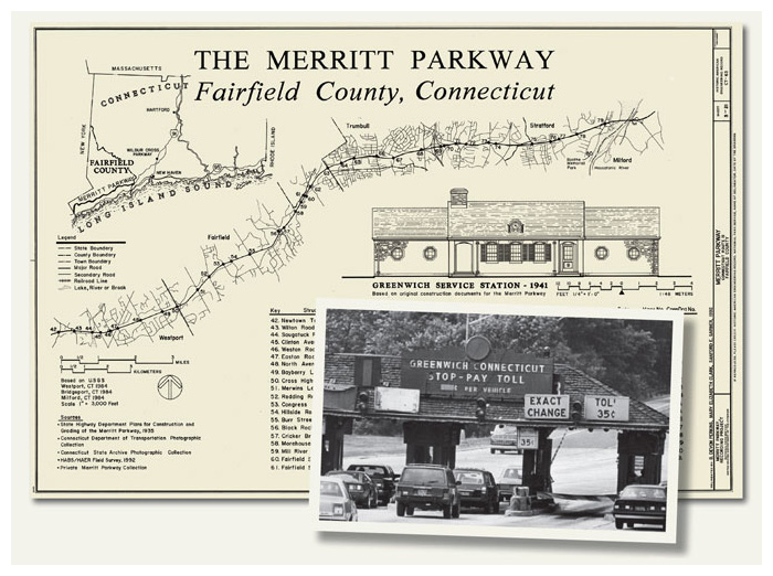 Traveling the Merritt Parkway (Images of America)